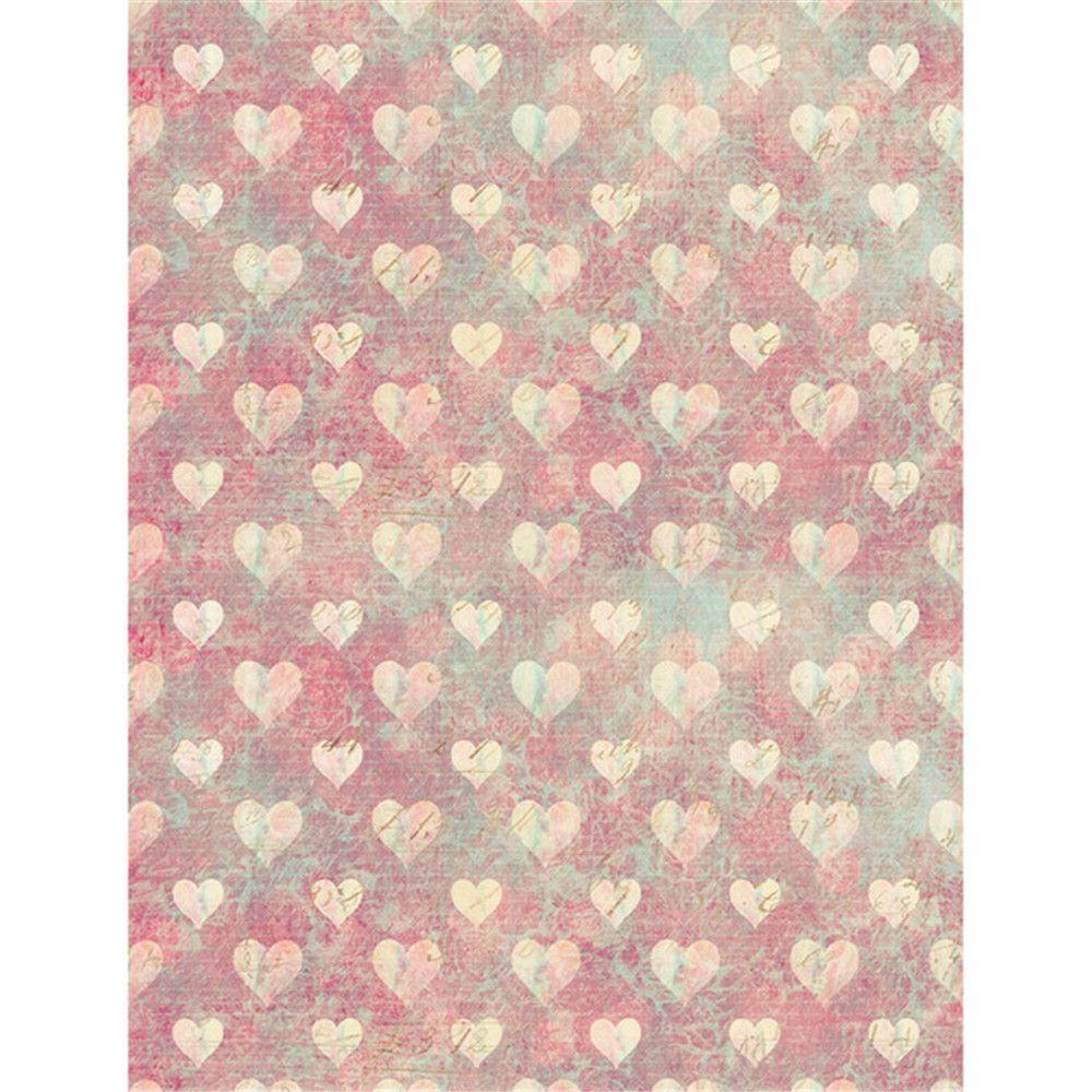디지털 인쇄 Love Hearts 비닐 배경 사진 아기 신생아 사진 촬영 벽지 복고풍 스타일 키즈 Photographic Backgrounds