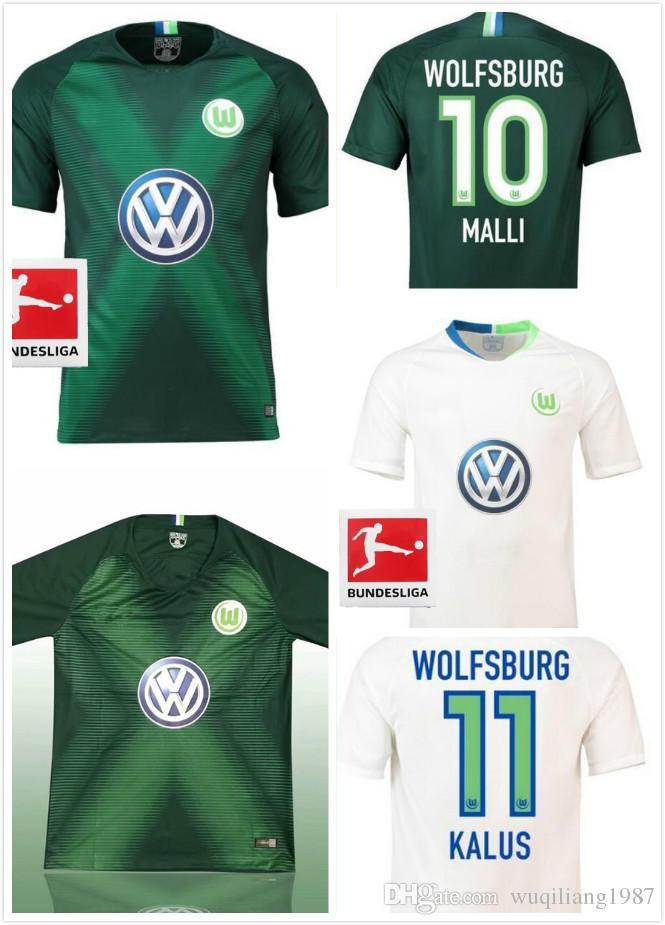 uk availability 11136 60f70 Best Quality 2018 2019 Wolfsburg Soccer Jersey Home Away 2018 2019 GINCZEK  GUILAVOGUI MEHMEDI KALUS MALLI STEFFEN WEGHORST Football Shirt UK 2019 From  ...
