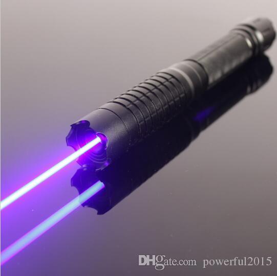 SICAK! En Güçlü 100000m 450nm Yüksek Güç Mavi Lazer Pointer Feneri Wicked LAZER Torch