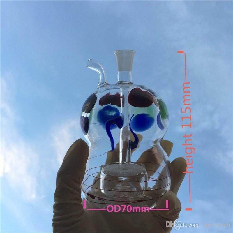 4.5 '' pulgadas de doble uso de vidrio Hookah 10 mm hembra pequeña práctica fumar pipa de agua de vidrio colectores de ceniza Bong