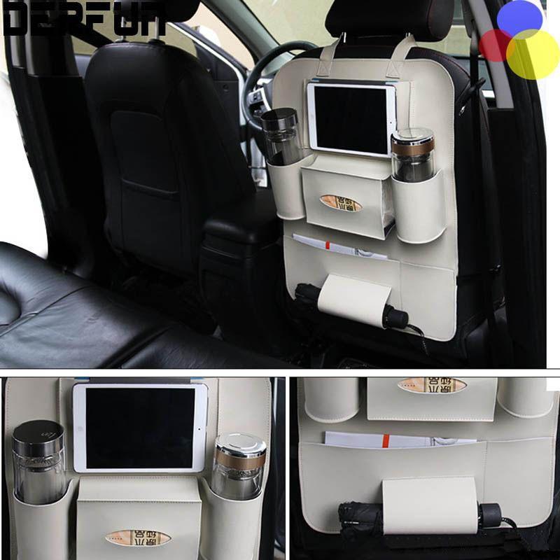 Auto-Rücksitz-Organisator-Multifunktionsgetränkeaufbewahrungstasche, die Tablette-Telefon-Halter-Behälter-Innenzusätze aufräumt