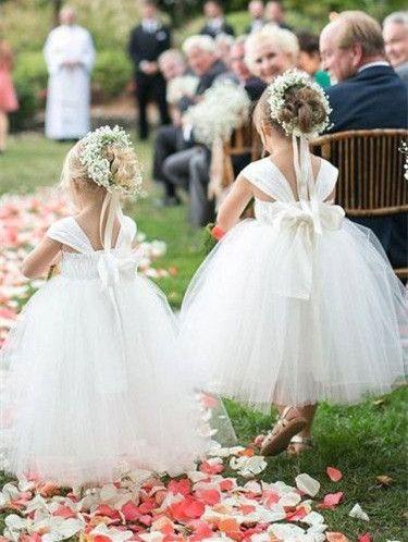 Baby Flower Girl Dress Mini vestido de dama de honor