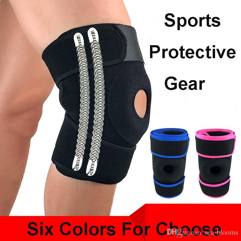 Sports Protection Knee Spring Anti-Sprain Injury Calf Sleeves Kneepad Outdoor Weightlifting Protective Gear Support FBA Drop Shipping H726F