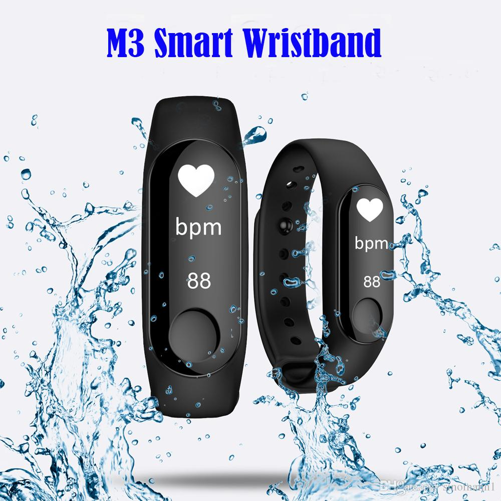 M3 Smart Band 0.87 inch OLED Sports smart bracelet Blood Pressure Heart Rate fitness tracker Bluetooth for Android IOS