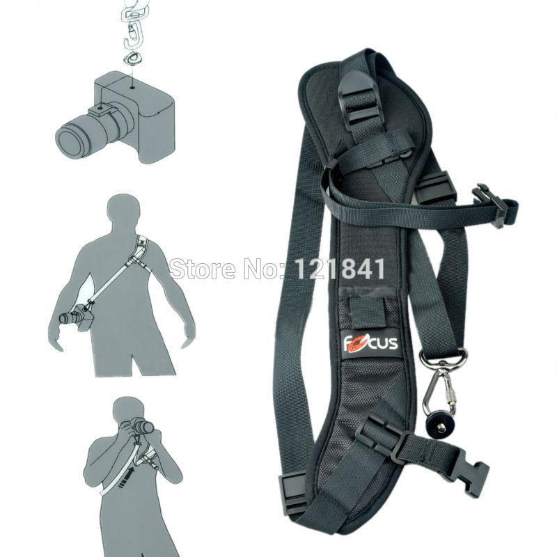 High Quality Focus F-1 Quick Carry Speed Sling soft Shoulder Sling Belt Neck Strap For Canon Nikon Sony Pentan Camera DSLR Black