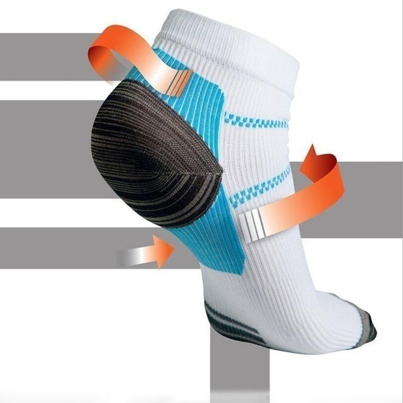 1pair unisex miracolo del piede calzino a compressione anti-fatigue fascite plantare tallone speroni dolore calze per uomo donna