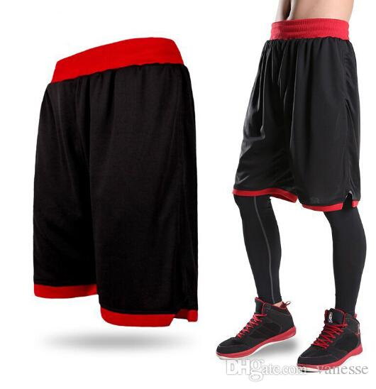 Erkek Basketbol Şort Boy Spor Koşu Kısa Pantolon Eğitim Spor Elastik Yaz Plaj Spor Nefes Artı Boyutu