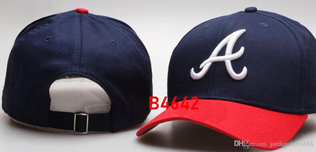 New Brand Cap Hip Hop Braves hat strapback men women Baseball Caps Snapback Solid Cotton Bone European American Fashion hats