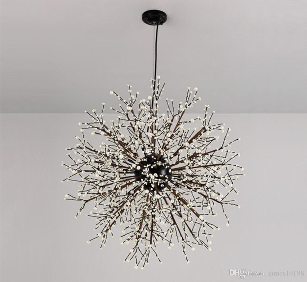 Фейерверк светодиодная люстра легкая из нержавеющей стали хрустальное освещение новое для гостиной столовая B071