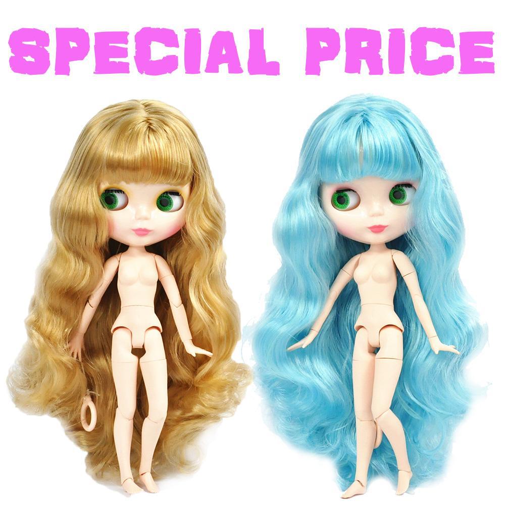 19 Joint Female Nude Body Doll Custom for Blythe Dolls DIY Supply Black Skin