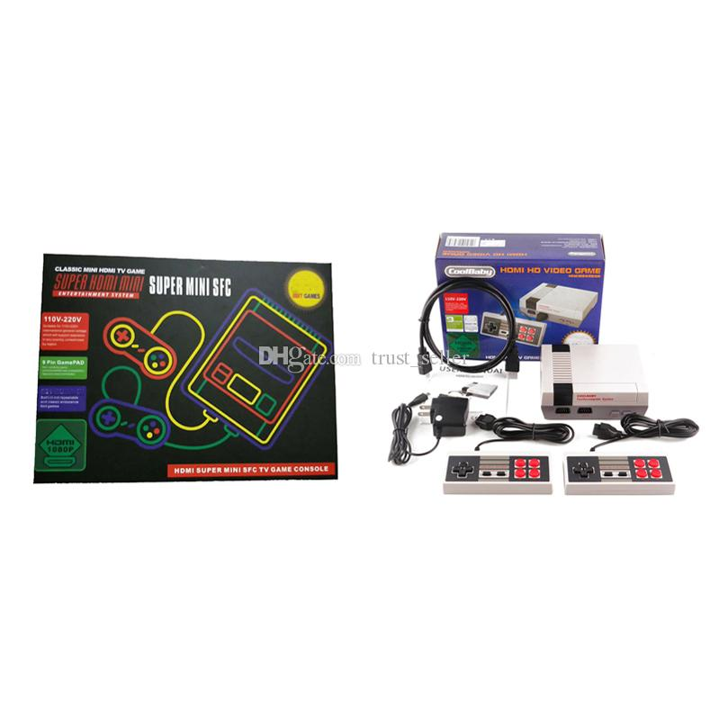 Coolbaby HDMI 1080P ميني TV فيديو يده ريترو كلاسيكي لعبة تعزية نظام الترفيه للألعاب NES الإنجليزية مربع DHL