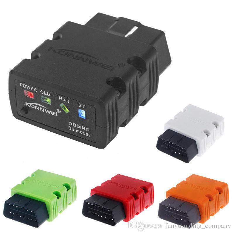 KONNWEI KW902 ELM327 OBD Mini Bluetooth Code Reader Auto Scanner Diagnostic Tool With Retail box UPS DHL Free Shipping