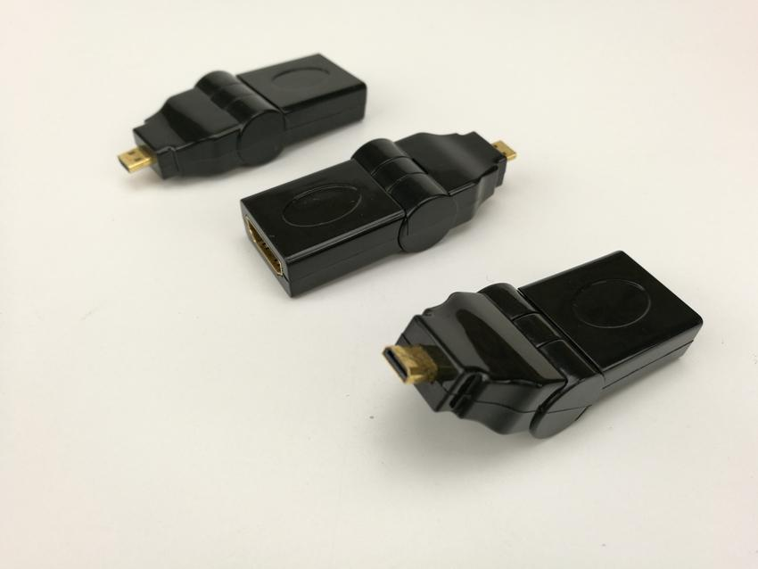 Micro HDMI MALE TO HDMI FEMALE 90 180 degrees Can be adjusted Rotating Swivel Right Angled Adapter 50pcs/lot