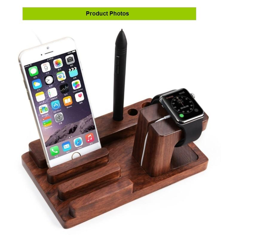 2019 Multifunctional 3 In 1 Using Desktop Wooden Holder Wood Phone Stand For Apple Watch For Iphone 6 6s X 7 8 Plus For Ipad Bamboo Charger Dock From