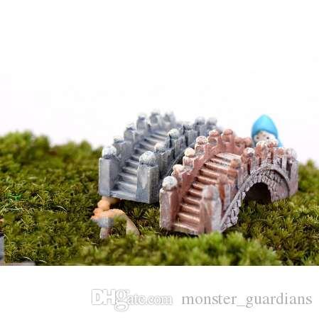 Figurine di ponte di pietra Mini artigianato in resina Fairy Garden Miniature Terrario fai da te / Piante grasse / Decorazione micro paesaggio