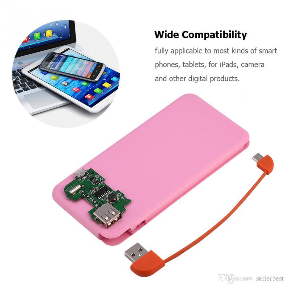 Mobile Power Bank Case Kit (Nécessite l'installation) Universel pour téléphones Tablettes Portable Extérieur 2A Charge rapide