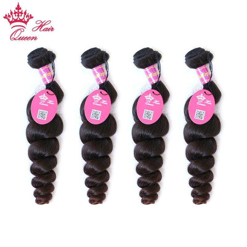 Queen Hair Procuts 4 stks Lot Losse Wave Braziliaanse Virgin Menselijk Hair Extensions Natural Color Tangle Free 12 - 28 Inch