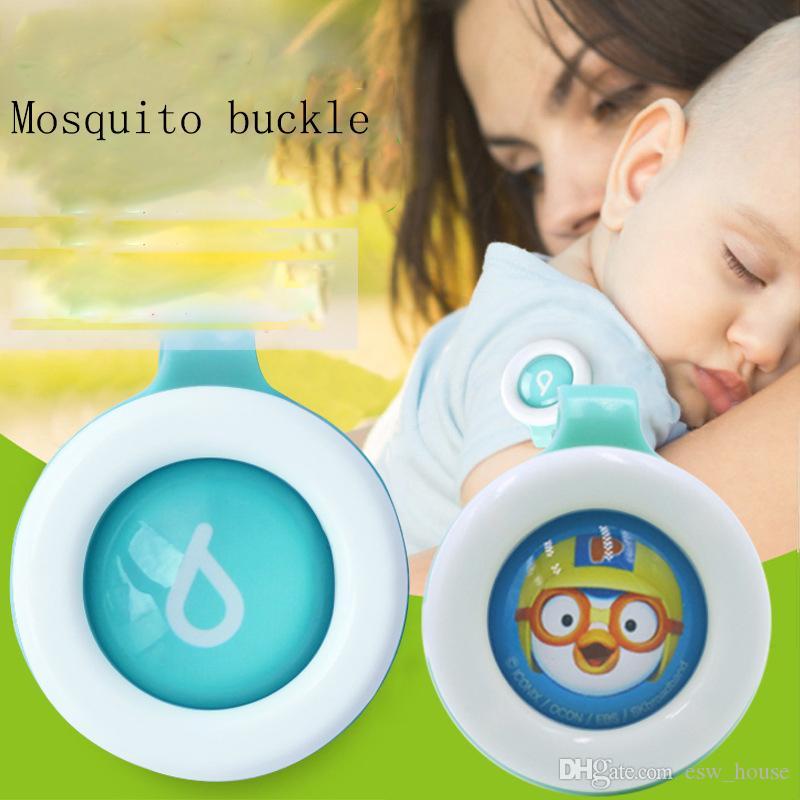 귀여운 모기 버튼 귀여운 만화 모기 구충제 클립 성인 키즈 여름 비 독성 모기 구충제 버클 해충 제어 도매
