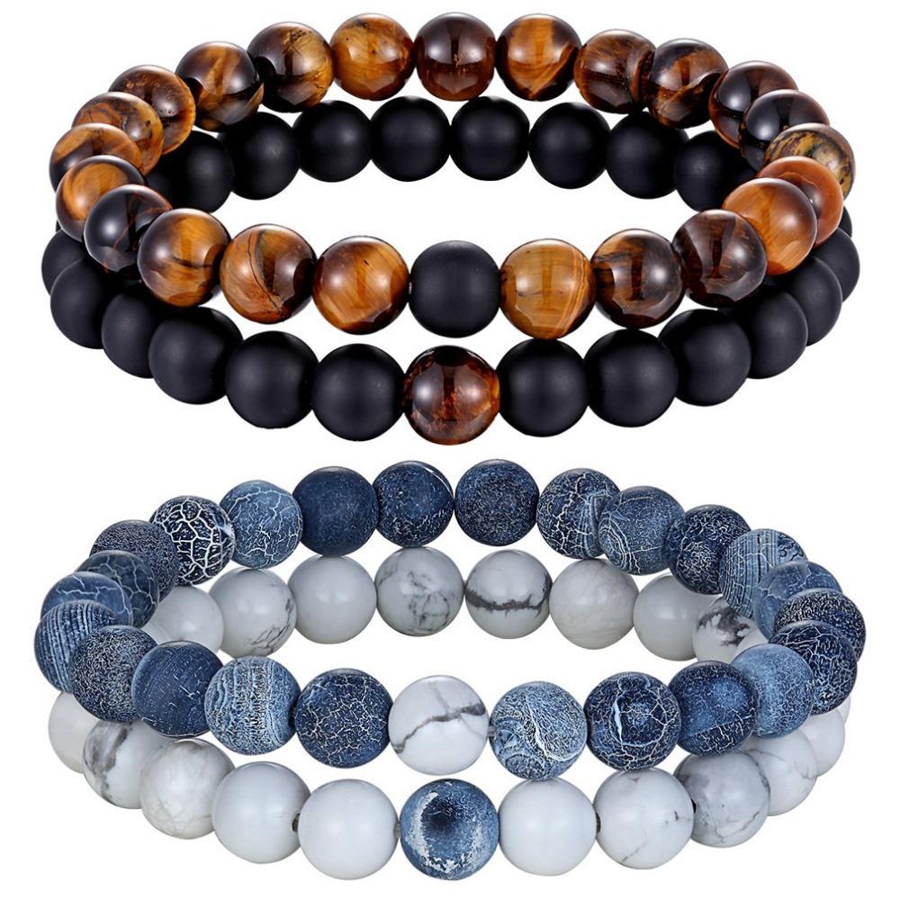modélisation durable aspect esthétique grande remise 2019 Hot 7 Style Couples Distance Bracelet Natural Stone Yoga Beaded  Bracelet For Men Women Friend Gift Charm Strand Jewelry From Vintage66,  $33.4 | ...