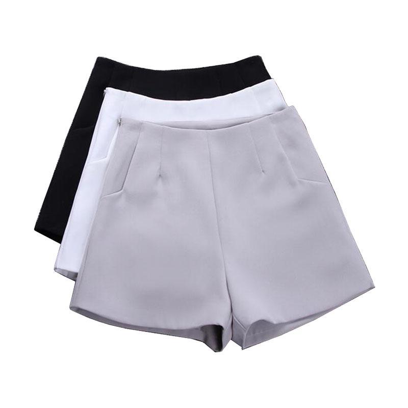 2017 New Summer hot Fashion New Women Shorts Skirts High Waist Casual Suit Shorts Black White Women Short Pants Ladies