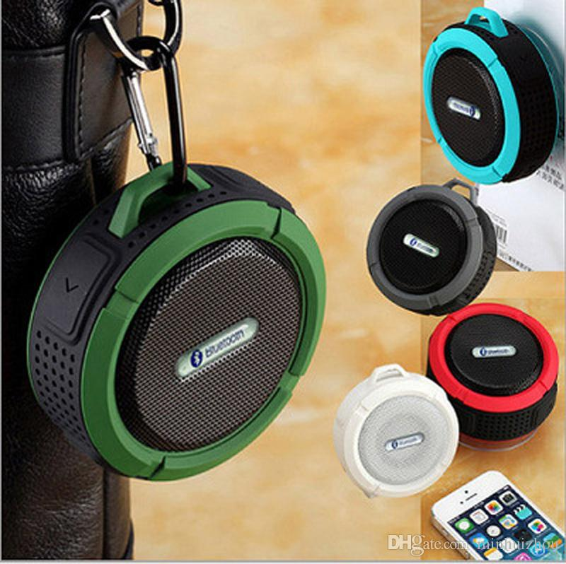 DHL libre Shippinghigh quanlity Nuevo Altavoz inalámbrico de ducha Bluetooth C6 Altavoz Bluetooth impermeable con ventosa y gancho
