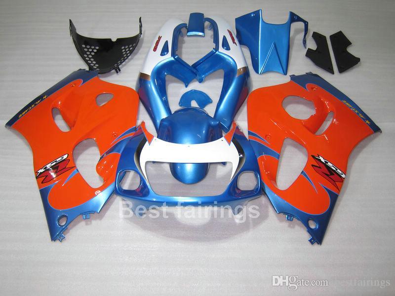 kit del carenado de alta calidad para SUZUKI GSXR600 GSXR750 SRAD 1996-2000 azul GSXR rojo blanco 600 750 96 97 98 99 00 carenados OI90