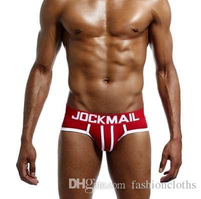 JOCKMAIL Марка мужчины нижнее белье сексуальная точка игривые мужчины трусы calzoncillos hombre скользит хлопок мужчины бикини краткое cuecas гей нижнее белье