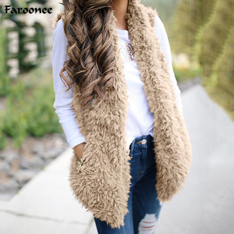 Donna Lana Gilet di agnello Tinta unita Senza Maniche Open Stitch Slim Gilet Outwear Autunno Inverno Casual Cardigan Coat 6Q0522
