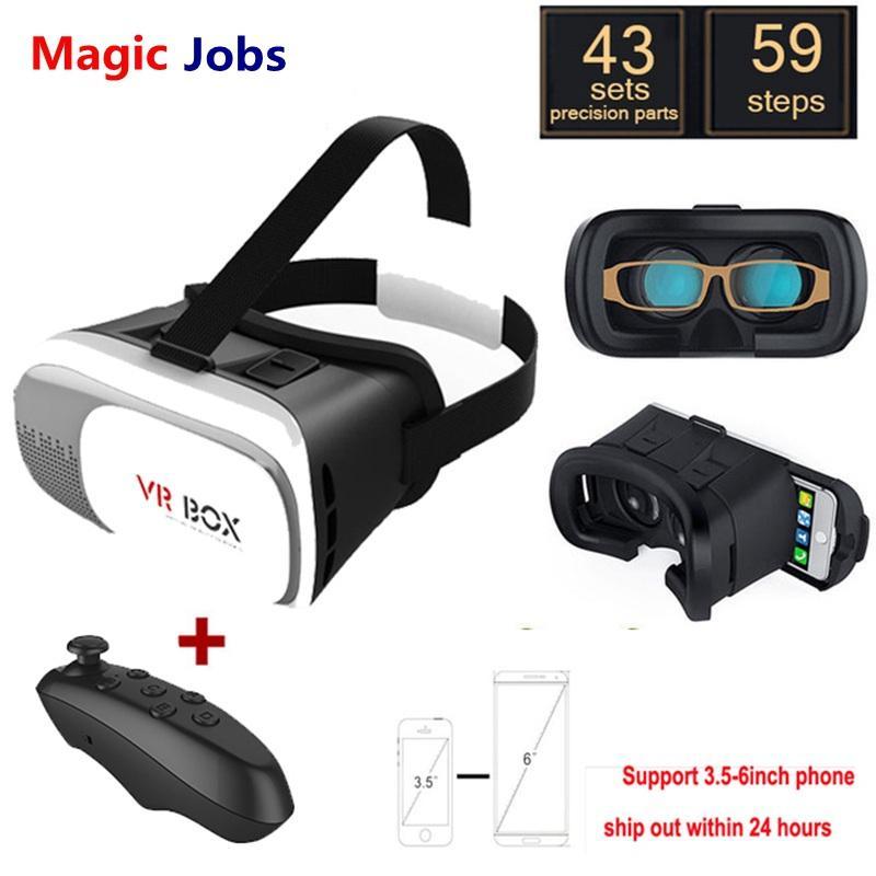 Magic_jobs caixa de realidade virtual google 2.0 gafas google papelão 3d vr óculos para iphone xiaomi 3.5-6.0 polegada de smartphones + bluetooth gamepad