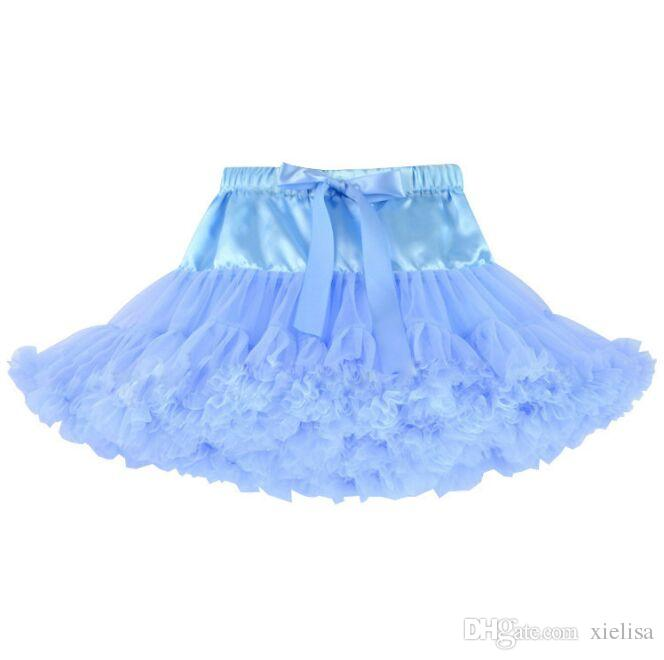 skype blue Kids Clothes Girls Half Body Skirts Fashion Dance Skirts Net Yarn Stitching Skirt For Kids Baby Girls dress free shipping