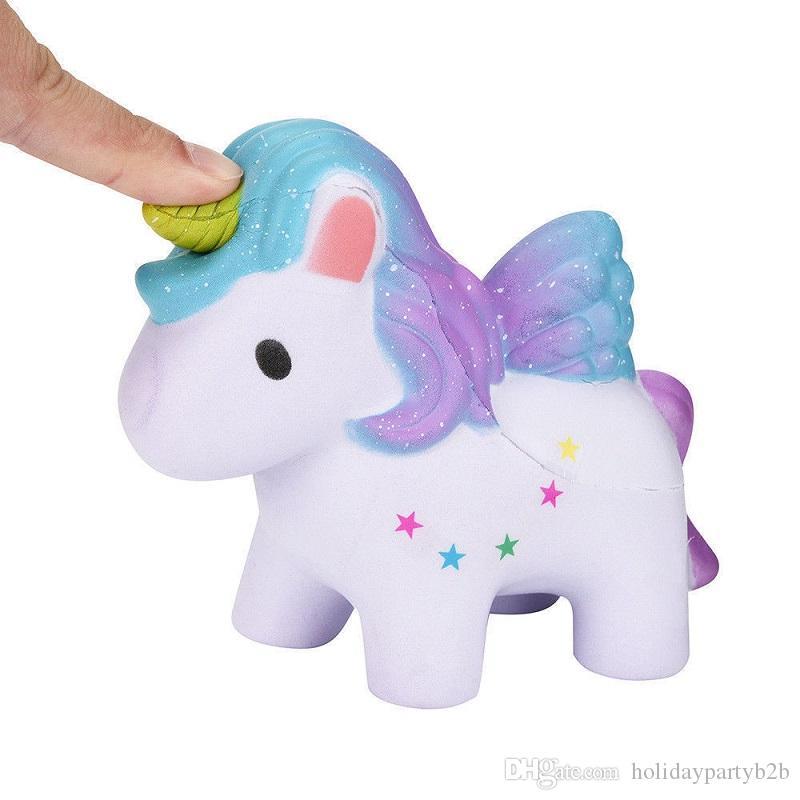 Hohe Qualität Squishy Rainbow Unicorns Super langsam steigende Kawaii Catoon Phone Strap Anhänger Brot Kuchen Spielzeug Großhandel