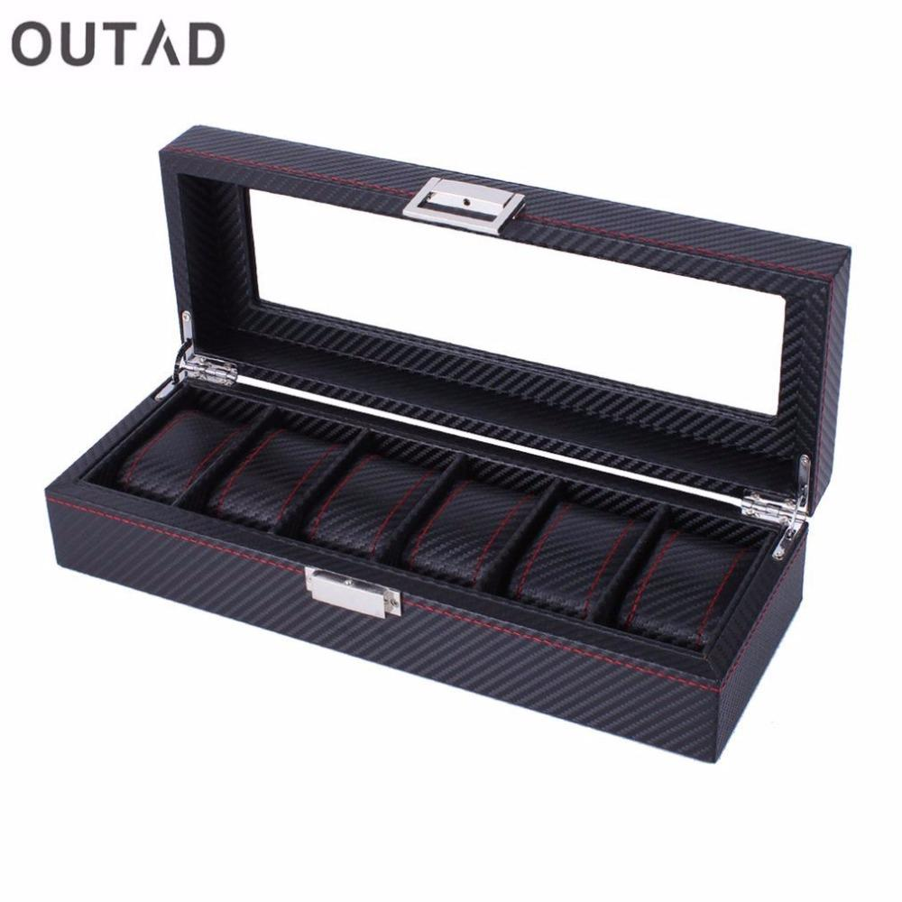 Outad 2 3 6 Grid Wood Aluminum Leather Watch Mens Box Handmade Acrylic Top Suede Pillow Watch Jewelry Collection Display Case Watch Travel Box Buy Watch Box From Watchoutmate 19 2 Dhgate Com