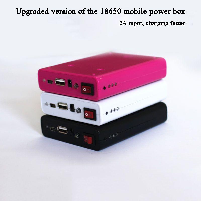 Черный 18650 Mobile Power Box 5V 2A USB кабель Зарядное устройство DIY Красный батареи Box зарядное устройство 1A