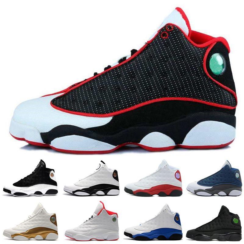 13 homens tênis de basquete Hiper Real Amor 13s Respeito Black Red White Grey trainers sneakers Toe esportes tênis para homens # 1