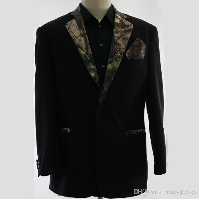 Land Camo Revers Formale Männer Hochzeit Smoking Benutzerdefinierte Formale Bräutigam Tragen Camouflage Groomsman Anzug Best Ausgestattet 2019 Top Verkauf (nur Jacke)