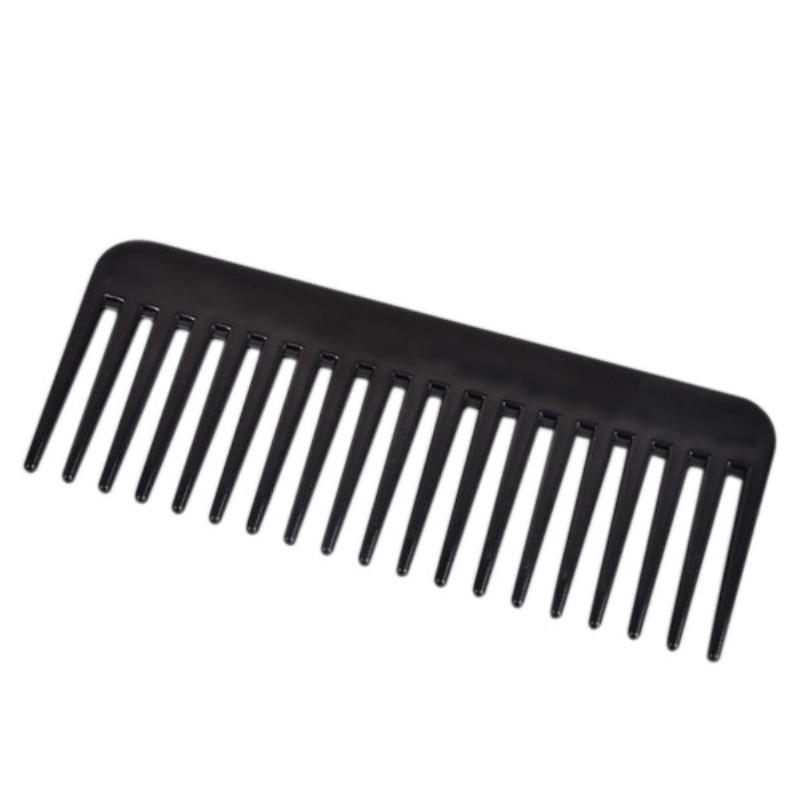 19 الأسنان مشط واسع الأسنان أسود ABS البلاستيك مقاومة للحرارة مشط واسع الأسنان واسعة لأداة تصفيف الشعر