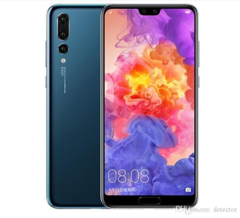 New Arrived Curved screen P20 Pro 3 cameras Android 8 P20pro 1GB 4GB Show fake 4GB RAM 128GB ROM Fake 4G LTE Unlocked Cell Phone DHL Free
