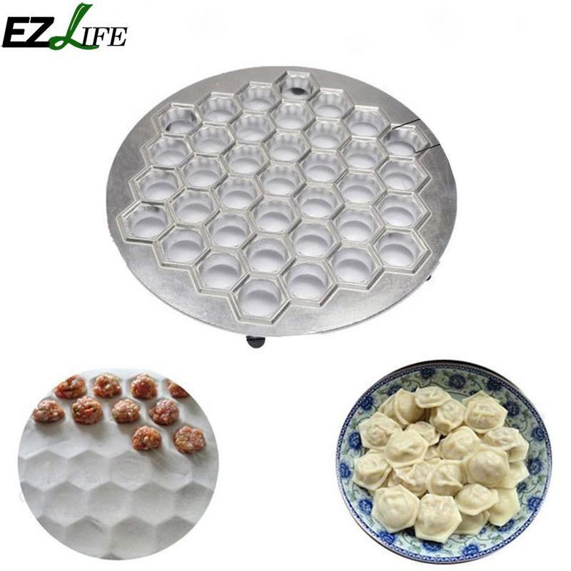 Diy Aluminum 37 Holes Dumpling Mould Tools Dumplings Maker Ravioli Mold Pelmeni Dumplings Tools Make Pastry Dumpling CHW8448