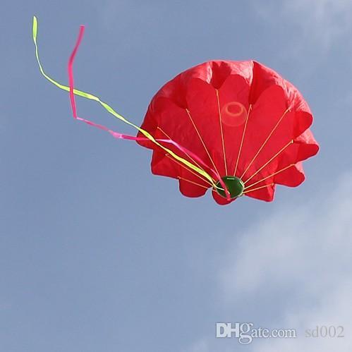 야외 스포츠에 대 한 낙하산을 던지는 재미있는 비행 우산 장난감 미니 손을 던지기 아이 교육 장난감 도착 5HK B