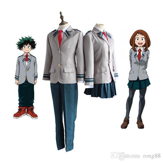 Anime Boku No Hero Academia Midoriya Izuku Bakugou Katsuki Ochaco Uraraka 코스프레 의상 의상 My Hero Academia School Uniform
