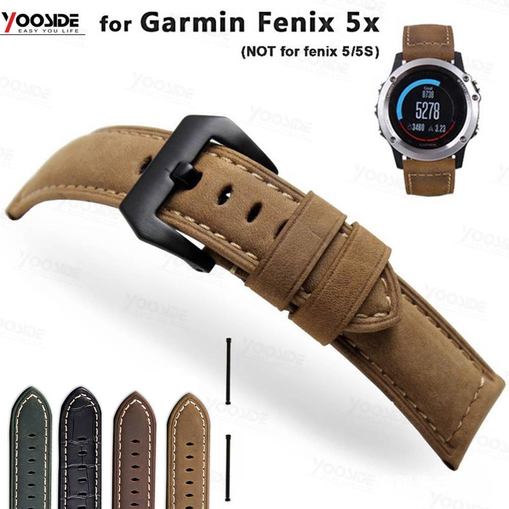 bracelet cuir montre garmin fenix 5x