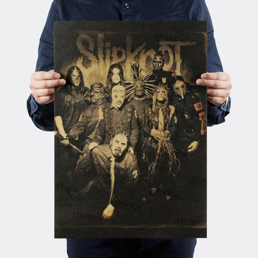 Acquista Slipknot Heavy Metal Rock Band Carta Kraft Poster Bar Adesivi Murali Poster Retro Pittura Decorativa 51x35 5 Cm A 3 17 Dal Chairdesk Dhgate Com