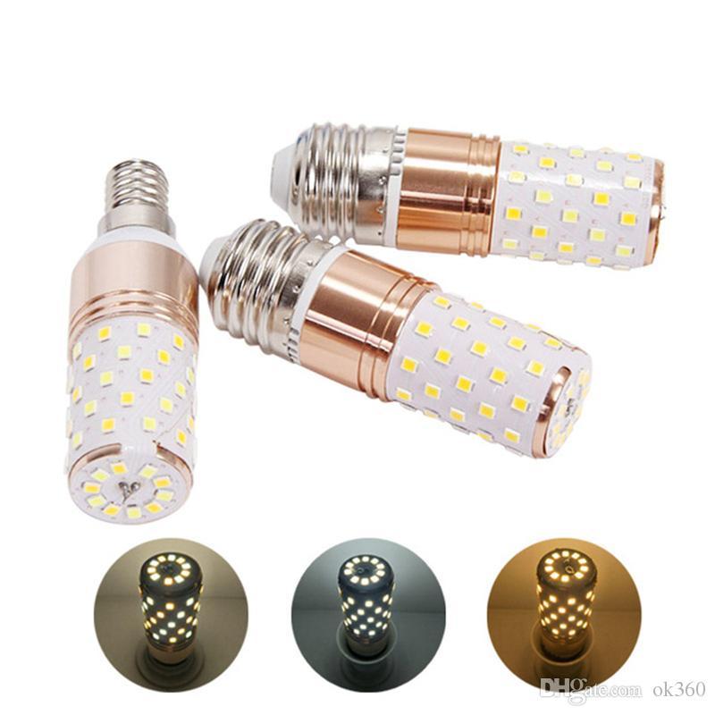 E14 E27 LED Birnen-Lampe 3 Farbtemperatur Integrierte Mais-Birnen-Leuchter Kerzenlampe 12W 16W SMD2835 Lampada Ampoule Bombilla AC85-265V