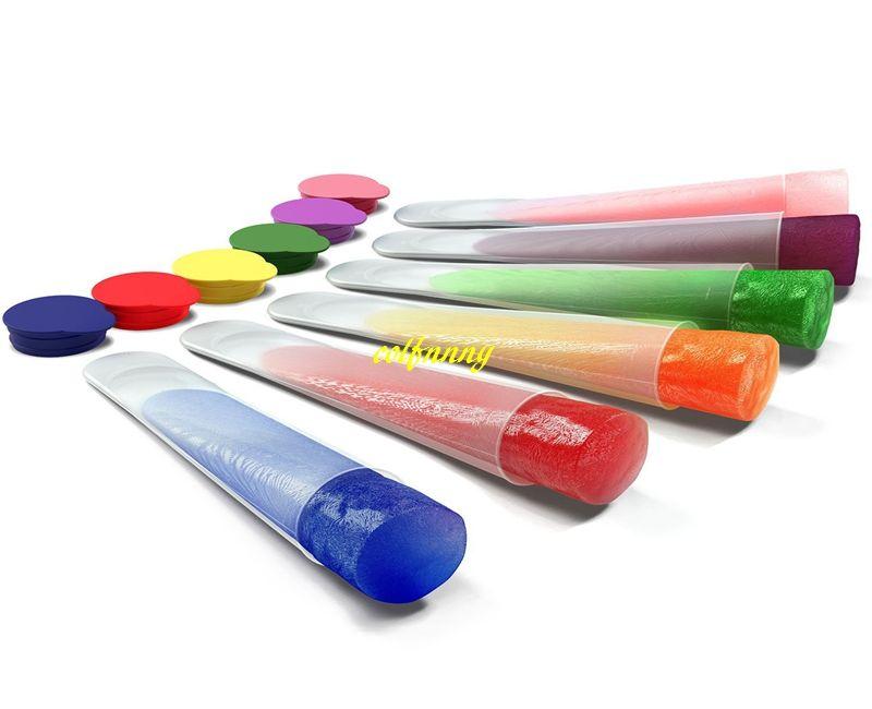 120pcs / lot Envoi rapide Moule À Crème Glacée Maker De Qualité Alimentaire Silicone Gelé Glace Pop Moule Cuisine Outil Mélanger les couleurs