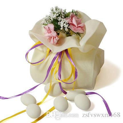 أنيقة رومانسية حافة الزفاف أكياس الحلوى الإبداعية مع الزهور اليدوية بريميوم الفاخرة حلوى الحلوى أكياس تخزين مع أكياس مأدبة اليدوية