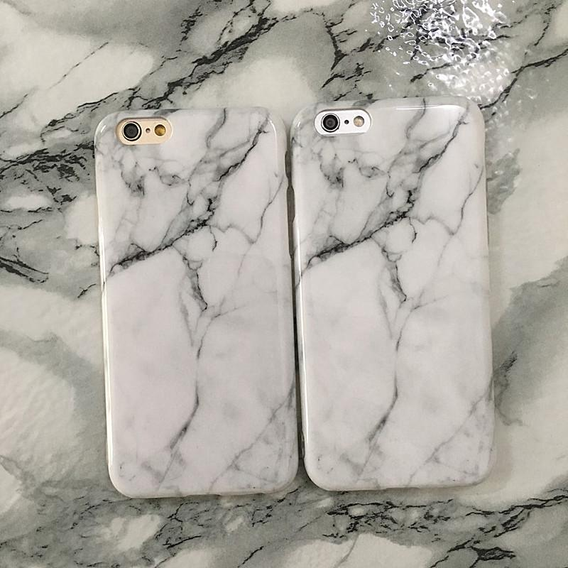 Marble Rock Stone Texture Pattern Back Cover Case for iPhone X IMD TPU Phone Cover