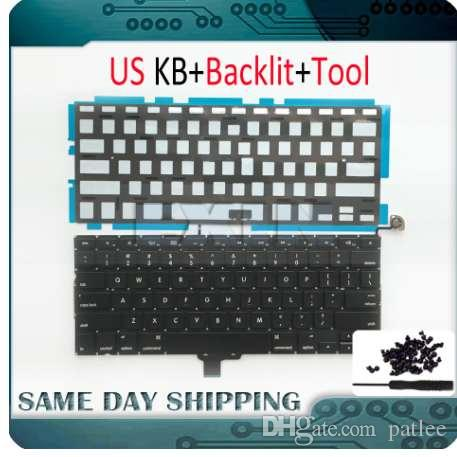 "NEW for Macbook Pro 13"" Unibody A1278 Keyboard US USA English+ Backlight Backlit +Screws Set 2009 2010 2011 2012 Year"