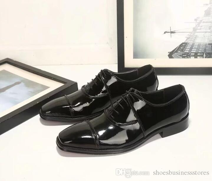 Men's Dress Shoes Formal Genuine Leather Oxfords Lace up Black Elegant Shoes For Men Classic Design Business Wedding Flats Plus Size