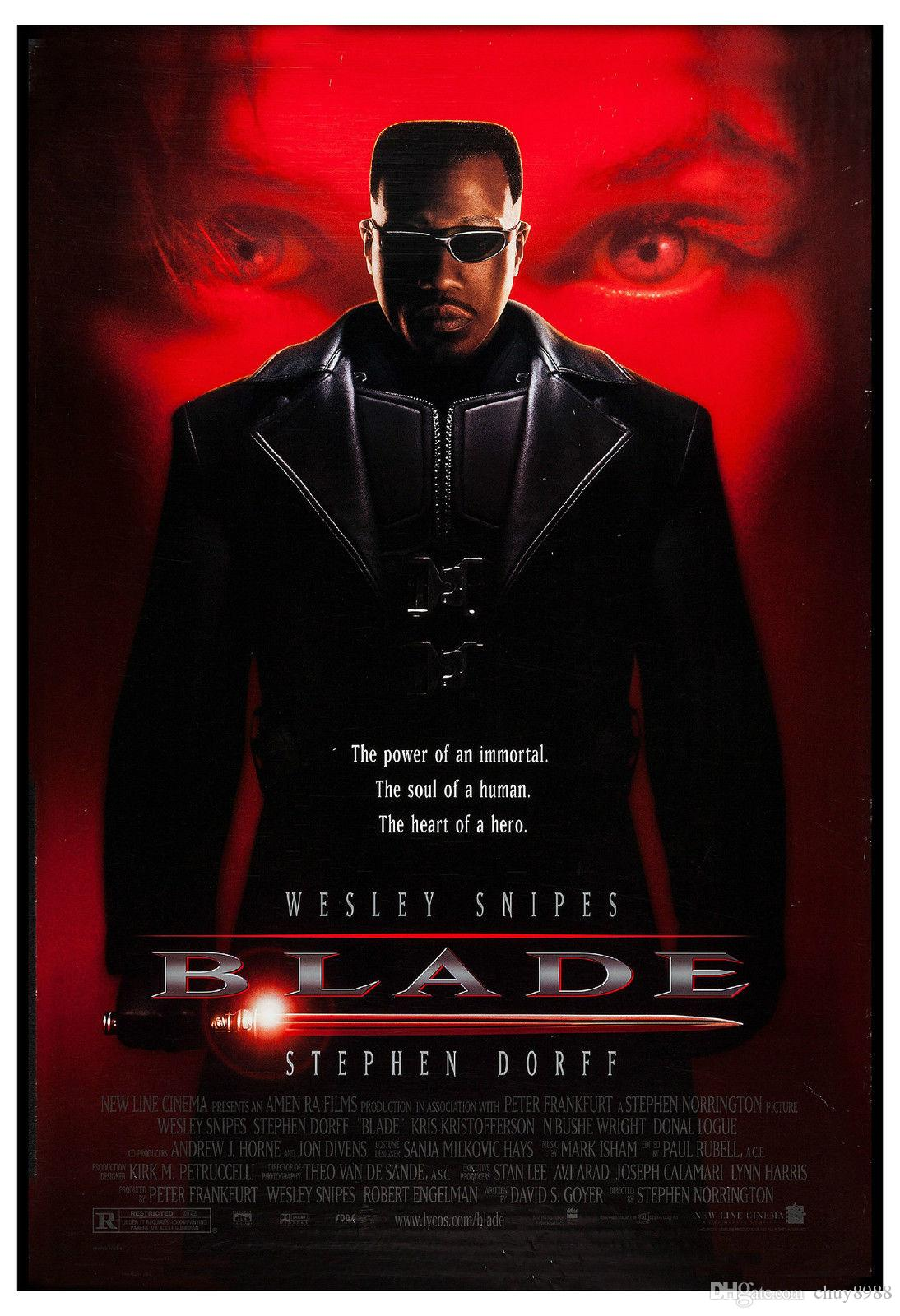 2020 Horror Blade Wesley Snipes Usa Movie Poster 1998 Large Format Art Silk Print Poster 24x36inch60x90cm001 From Chuy8988 10 93 Dhgate Com