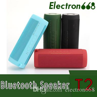T2 Wireless Best Bluetooth Speaker Waterproof Portable Outdoor Wireless Mini Column Box Speakers Support TF Card Boombox free